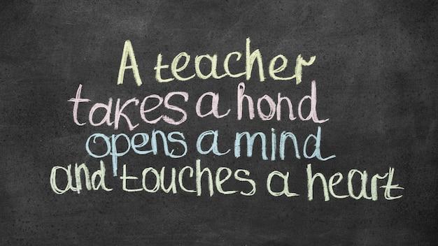Citation de lettrage de bonne journée des enseignants