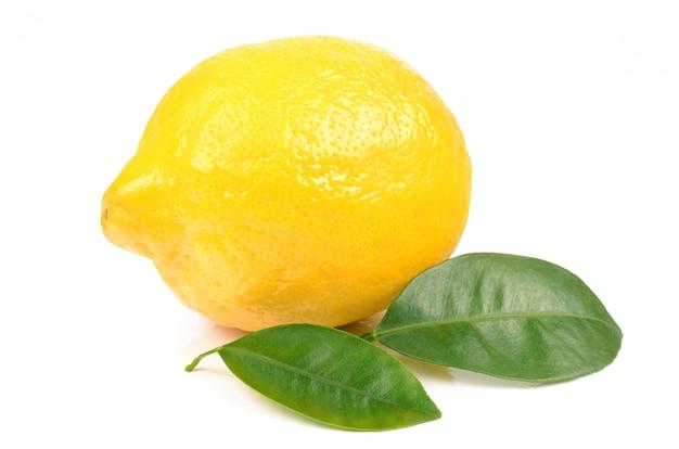 Citron sur un blanc