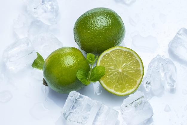 Citron vert frais et menthe