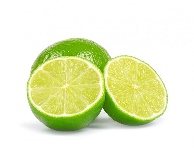 Citron vert, isolé, blanc