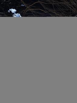 Citrouille 3d contre un paysage d'halloween effrayant