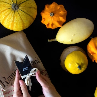 Citrouille d'automne le jour de l'halloween