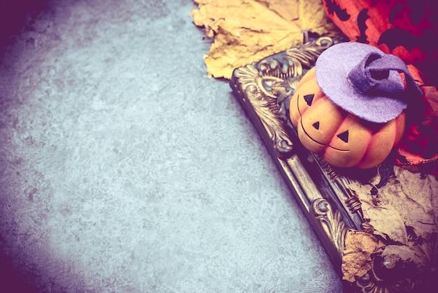 Citrouille d'halloween avec cadre