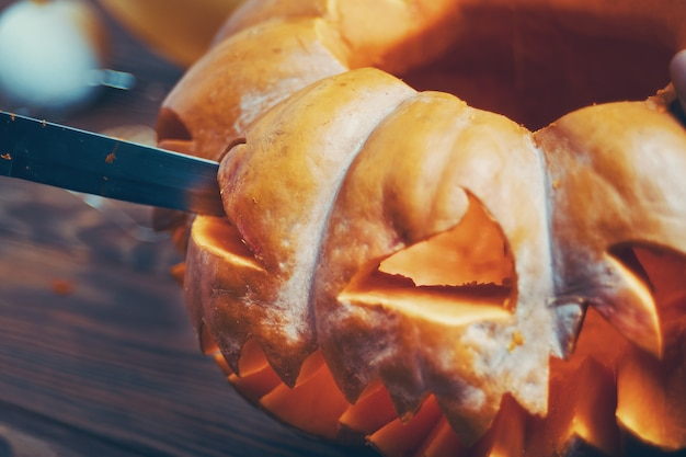 Citrouille d'halloween.