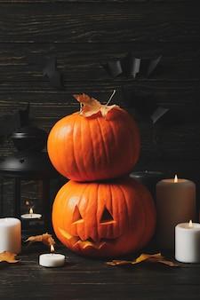 Citrouilles et accessoires d'halloween