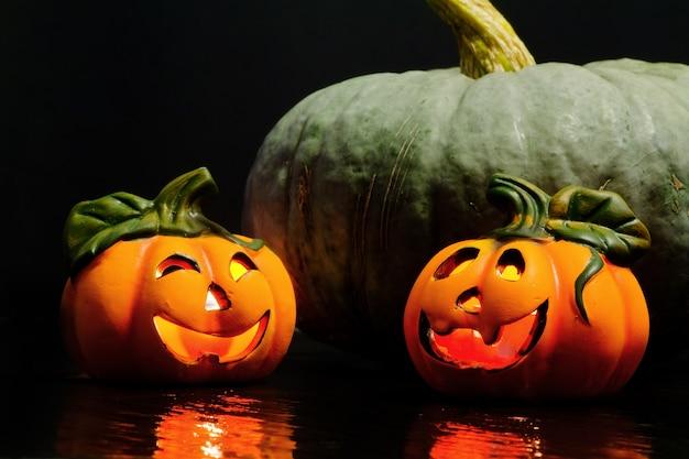 Citrouilles décoratives d'halloween