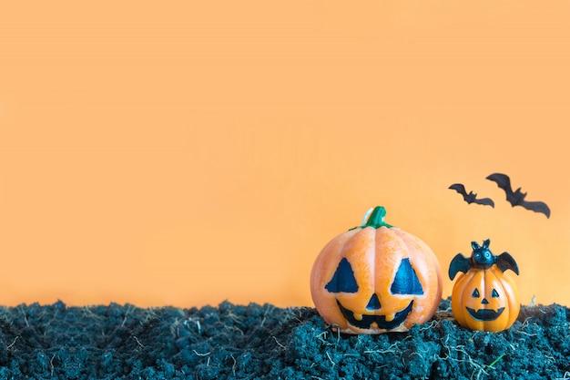 Citrouilles d'halloween sur le sol, jour d'halloween
