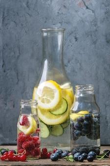 Citrus concombre eau impertinente