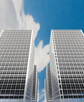 City building, rendu 3d