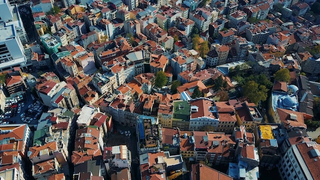 Cityscape istanbul, turquie. photo vue à vol d'oiseau
