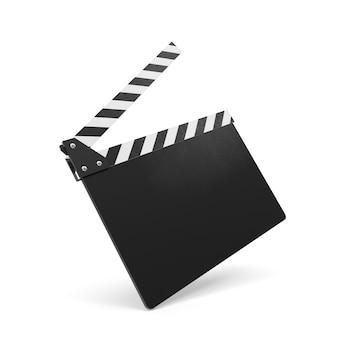 Clap de film isolé sur blanc.