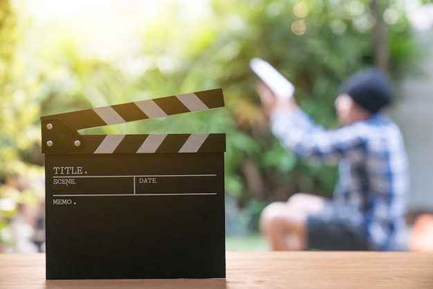 Clapper de film, concept de cinéma