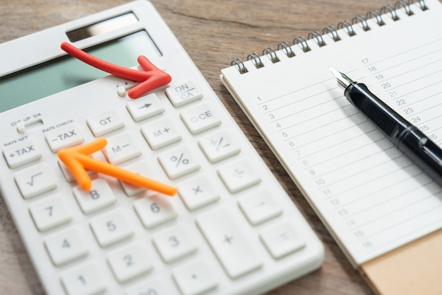 Un classement de livre avec une calculatrice