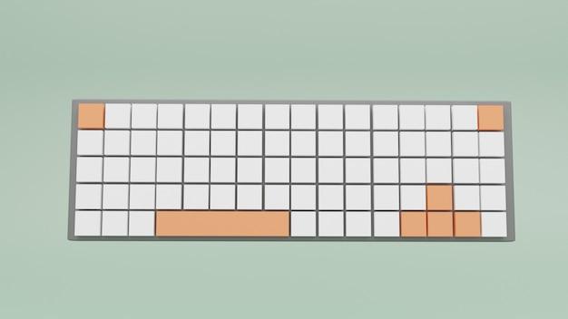 Clavier d'icônes 3d avec touches blanches et rouges