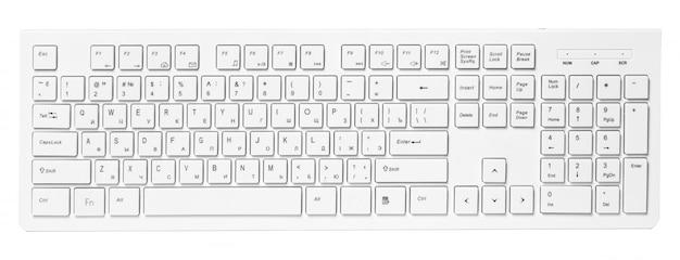 Clavier d'ordinateur isolé sur blanc