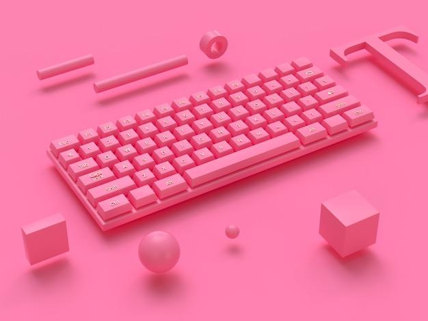 Clavier D'ordinateur Sans Fil De Rendu 3d Photo Premium