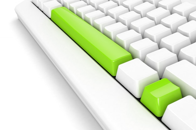 Clavier avec point d'exclamation vert vif