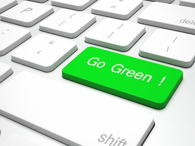 Clavier de recyclage vert