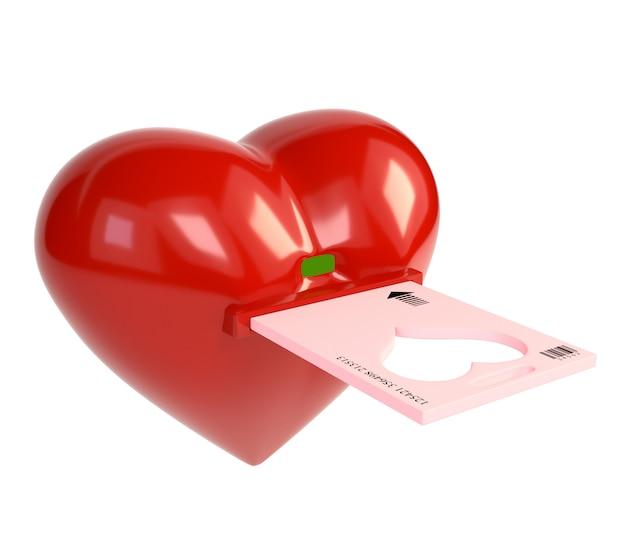 Clé électronique coeur rouge et clé squelette, isolée sur fond blanc.