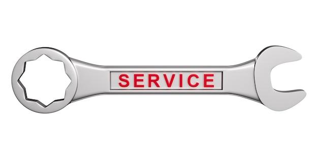 Clé avec illustration 3d de service de texte