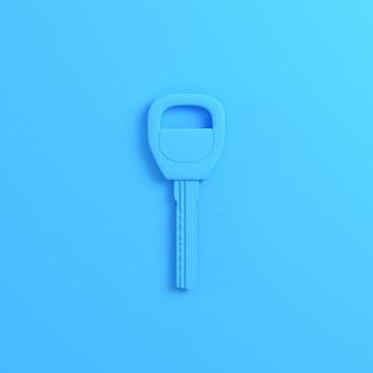 Clé de maison ou de voiture sur fond bleu clair