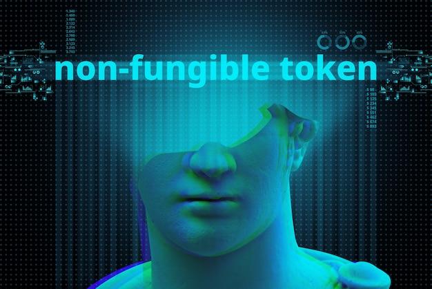 Clé numérique nft son jeton non fongible basé sur la crypto-monnaie.