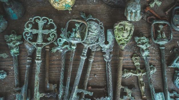 Clés squelette vintage