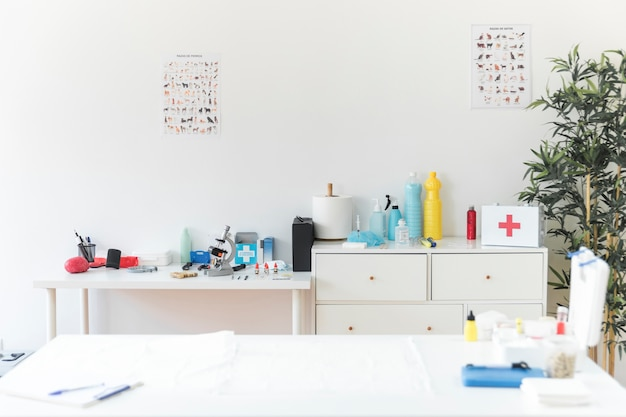 Clinique vétérinaire avec équipements médicaux