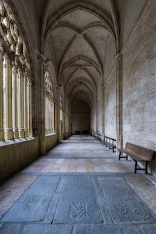 Cloître de la cathédrale de ségovie.