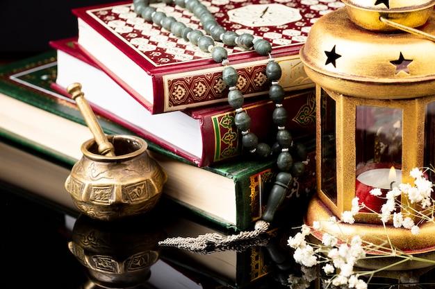 Close up arrangement islamique nouvel an