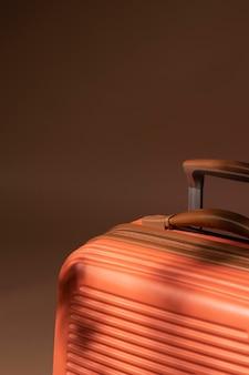 Close up bagages préparés pour les voyages