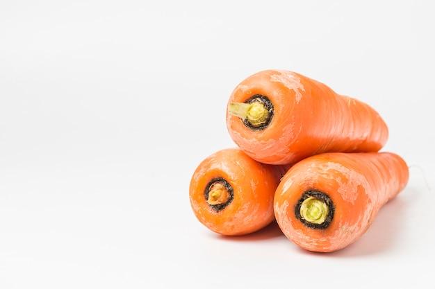 Close-up de carottes organiques