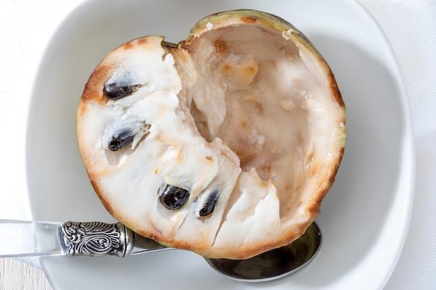 Close-up de cherimoyas mûrs