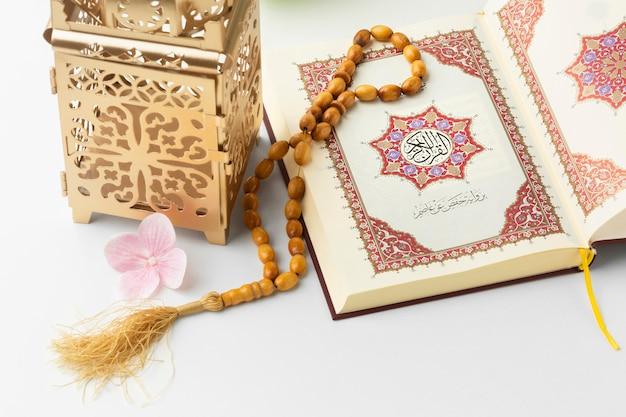 Close-up concept nouvel an islamique