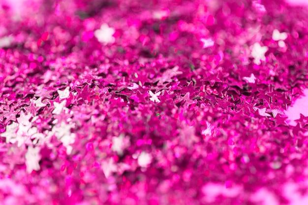 Close-up confettis lumineux