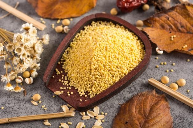 Close-up de couscous bio