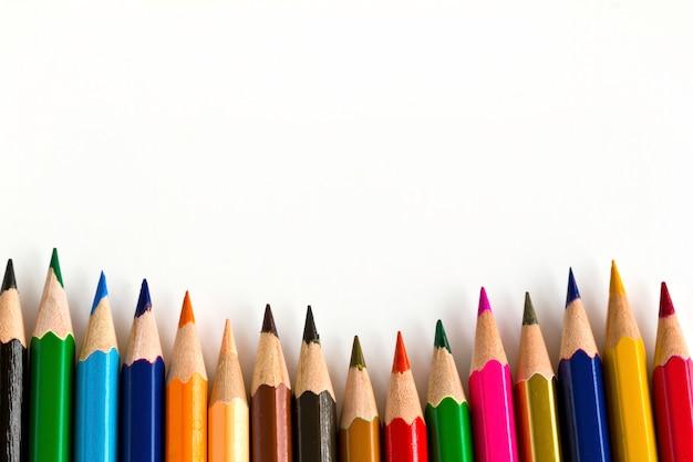 Close-up de crayons de couleur