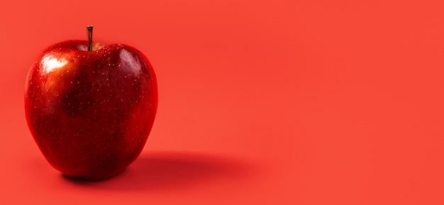 Close-up délicieuse pomme avec espace copie