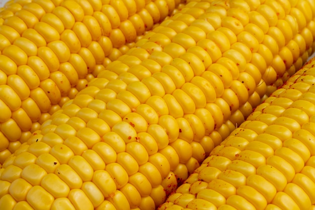 Close-up délicieux épis de maïs