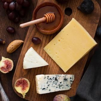 Close-up de délicieux snacks sur une table