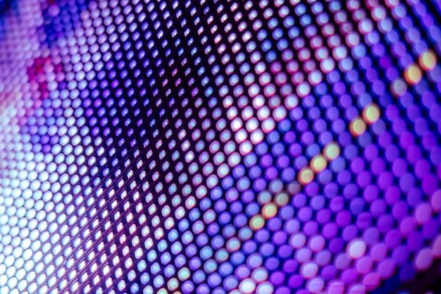 Close up écran flou led dégradé