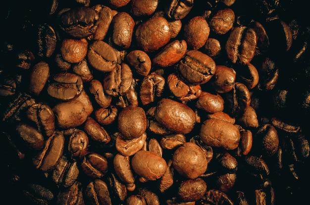 Close up grains de café.