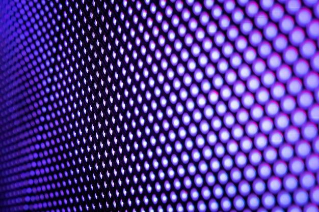 Close up led écran flou.
