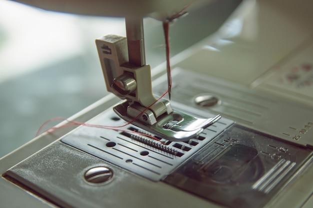 Close up machine à coudre