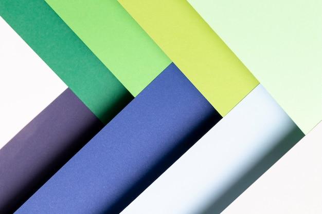 Close-up de modèle de couleurs froides