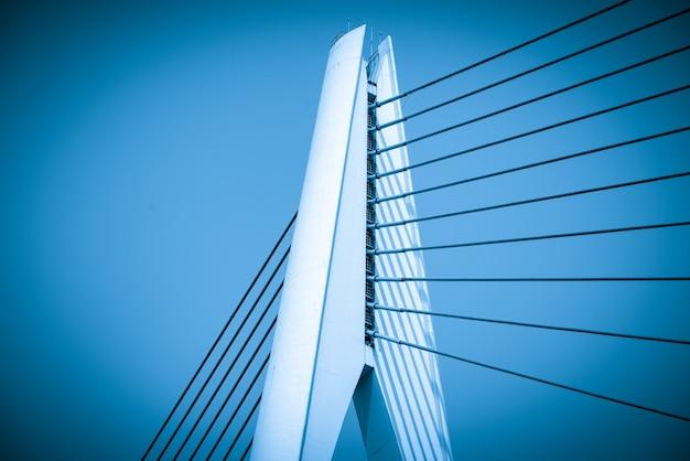 Close up of bridge structure, chongqing yangtze river bridge