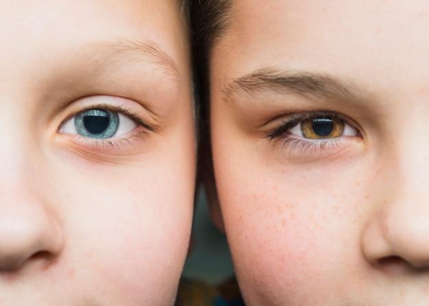 Close up portrait de deux garçons