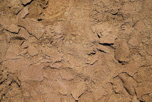 Close-up de sable de la mer
