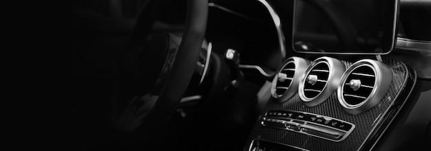 Close up système de ventilation de voiture et climatisation