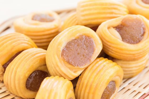 Close up tarte aux ananas